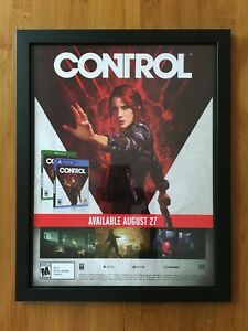 CONTROL Framed Print Ad/Poster PS4 Xbox One Switch Remedy Max Payne Alan Wake