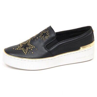 72131245e5 E8846 sneaker donna black MICHAEL KORS TYSON scarpe borchie shoe slip on  woman   eBay