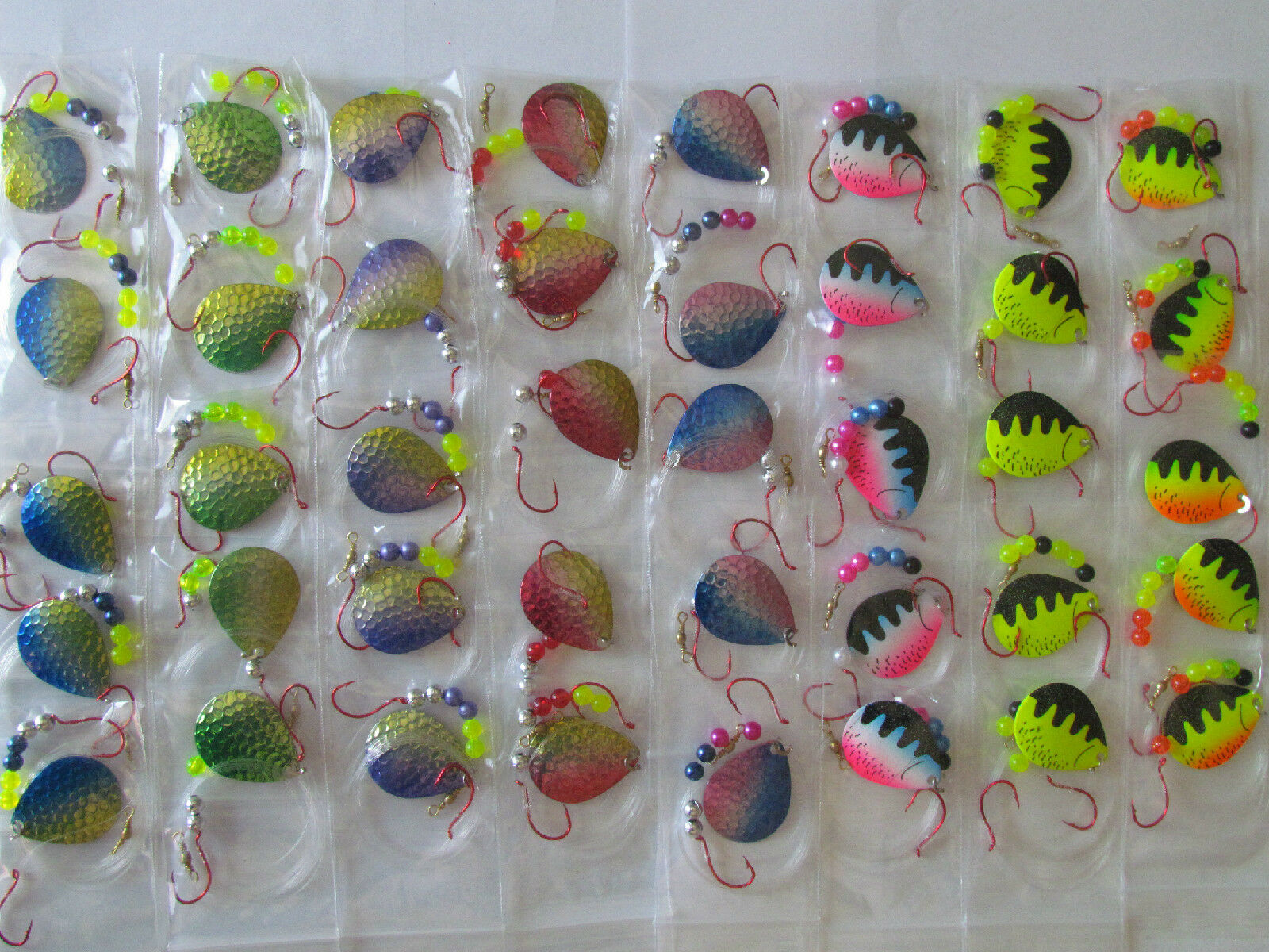 40 Spinner Rigs Farbeado Blades Walleye Northern Bass   5 Blades