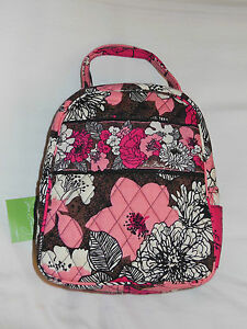RARE - NWT VERA BRADLEY LET'S DO LUNCH Bag in MOCHA ROUGE Lunch Bunch