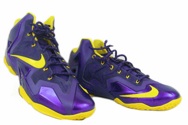 release date: 12527 bcce0 Nike Lebron XI 11 ID Purple Yellow Sz 16 641216-991 Lakers LSU