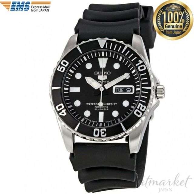 SEIKO 5 SNZF17J2 Watch sports Black Band Men's in Box from JAPAN NEW