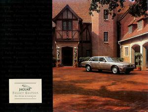 1996 Jaguar XJ6 Vanden Plas XJR XJ12 XJS Conv 56 Page Deluxe Sales Brochure