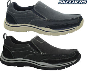 Mens-Sketchers-Relaxed-Fit-Slip-On-Casual-Walking-Driving-Boat-Shoes-Trainers-Sz