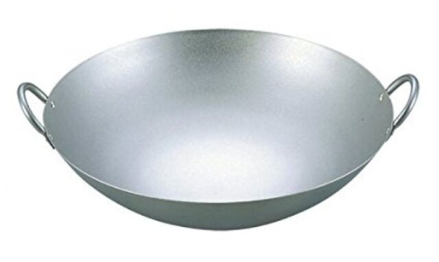 NEW EBM Pure Titanium Ultralight Chinese Hands Pot Wok 33 cm With Tracking