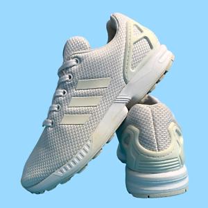 Adidas-ZX-Flux-Chaussures-Femmes-Taille-UK-6-5-Blanc-Running-Sports-Baskets-EUR-39-5