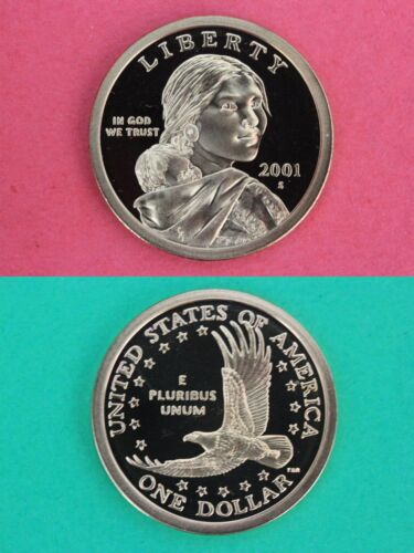 2001 S Proof Sacagawea Native American Dollar With DIY Slab Flat Rate Shipping