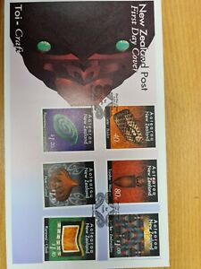 New-zealand-stamps-1996-Toi-Craft-set-on-FDC
