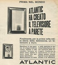 W8332 ATLANTIC ha creato il televisore a parete - Pubblicità 1962 - Advertising