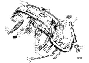 Shock absorber rear for Lambretta LI series 3 by Casa Lambretta