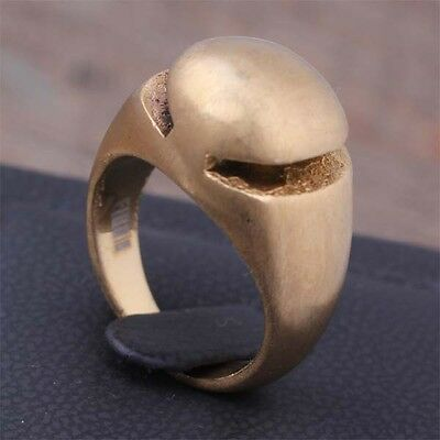 316L Stainless Steel Fashion 18K Gold Plated Finger Ring Jewelry US Size 6 7 8