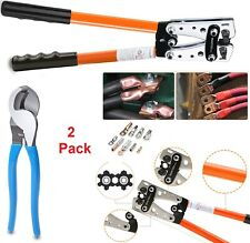 Battery Wire Terminal Cable Crimping Tool Awg Wire Crimper Pliers Stripping Kit