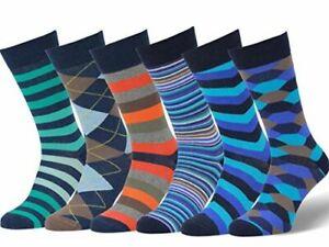 Easton Marlowe Mens Socks 3 Pair Colorful Cool Patterned Dress Socks Size 10-13