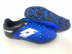 NEW-Lotto-Youth-Boy-039-s-Stadio-Lace-Up-Soccer-Cleats-Blue-Black-A34-z