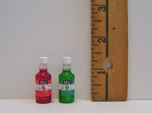 MINI KITCHEN FOOD RE-MENT BOTTLES OF SNOWCONE JUICE LOT ACCESSORY 1//6 RETIRED