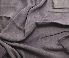 "Hand Dyed PEARL GRAY Raw Silk Noil Poplin Gauze Fabric - 18""x22"" remnant"