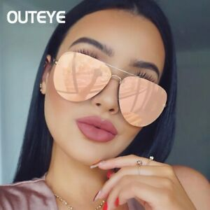 Aviator-Sunglasses-Women-Oversized-Top-Fashion-Flat-Lens-Mirror-Aviation-Sun