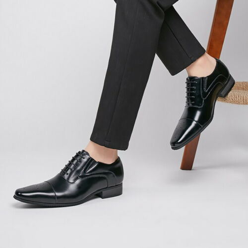 Details about  /British Mens Low Top Business Shoes Pointy Toe Work Office Oxfords Lace up New L