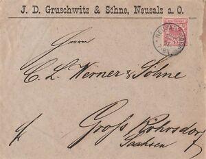 Briefumschlag-Jahr-1891-verschickt-von-Neusalz-nach-Grossroehrsdorf-wertvoll