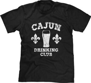 f3145a2c99c37 Cajun Drinking Club Mardi Gras New Orleans Bourbon St Louisiana Mens ...