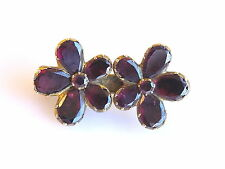 Georgian Almandine Garnet Flower brooch