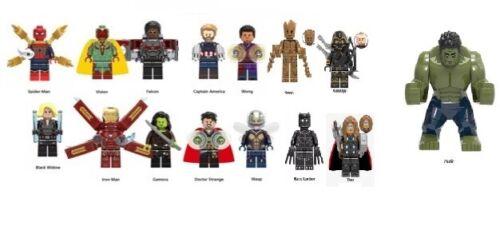 CUSTOM//LEGO Minifigures Séries Marvel Fin de partie Batman plus SPIDERMAN toystory