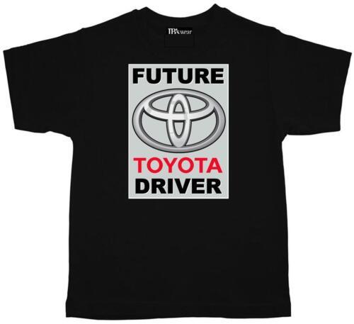 Childrens Kids Tee Shirt  Future TOYOTA  Driver black cotton Kids T Shirt