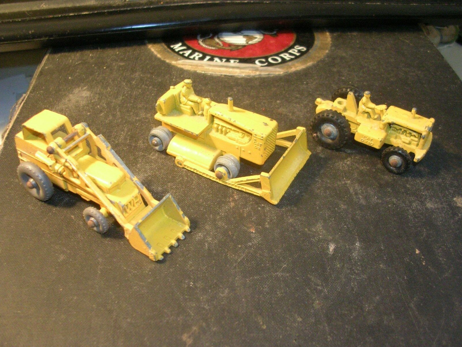 3 1960's Lesney Construction Set  's 1,2,3  Dozer - Tractor - Shovel