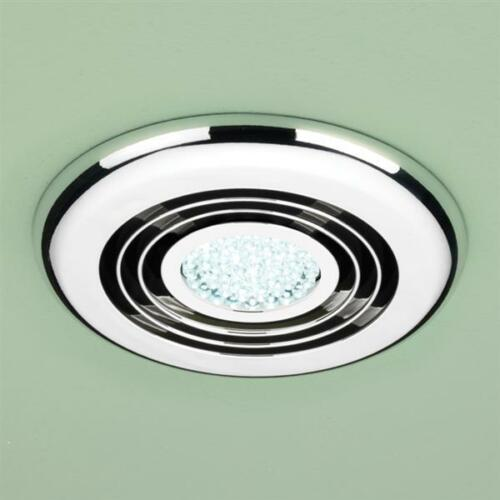 HIB CYCLONE WETROOM INLINE FAN IN CHROME COOL WHITE LED 32700