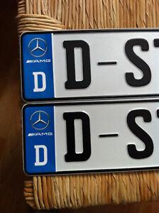 Details Zu D Sticker Auto Aufkleber Kennzeichen Wappen Drei Stern Blau Amg Top