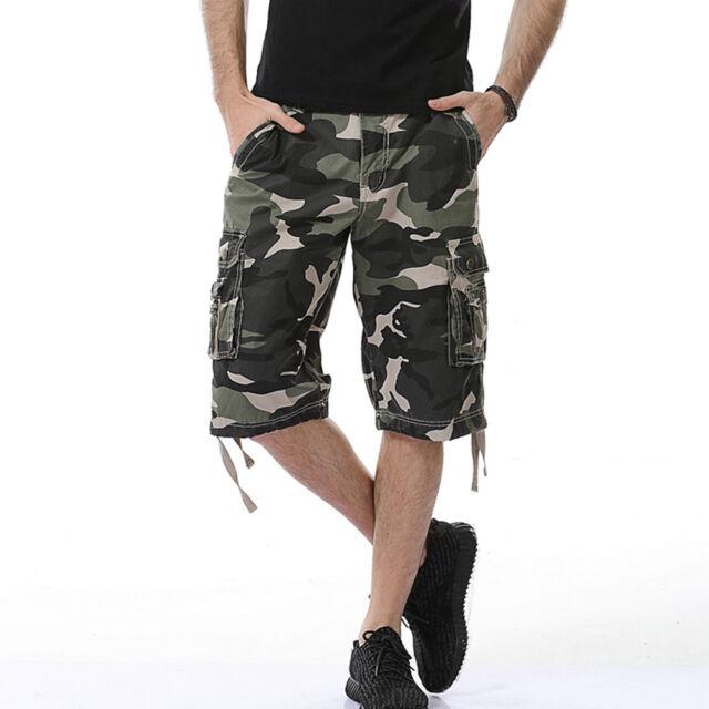 ccb638e7ba Crysully Men's Cotton Casual Camo Printed Tactical Multi Pocket ...
