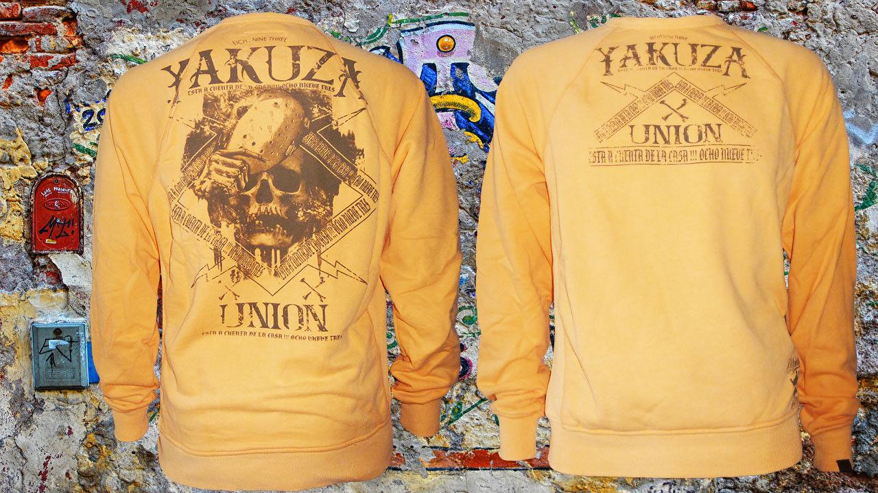 Yakuza Sweatshirt Union Jumper PB-7026 Orange Gr. 4XL RAR Pullover Pulli NEU