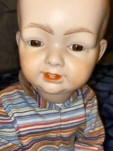ANTIQUE-K-R-H-GERMANY-562-12-BISQUE-REPRODUCTION-BOY-DOLL-JOINTED-17-GLASS-EYES