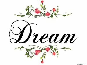 Image Is Loading XL FLoRaL DREAM SiGn SHaBbY WaTerSLiDe DeCALs FuRNiTuRe
