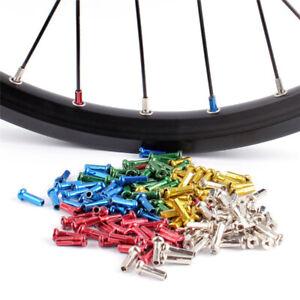 50Pcs//pack Mountain Road Bike Bicycle Wheel Spoke Nipples bouchon de 15 mm Longueur