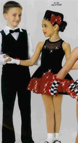 Dance Costume Ballet Jazz Tap Skate Dress  Pageant glitter