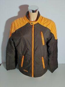 Alprausch-Women-039-s-Quilted-Jacket-Jacket-Size-M-Dark-Brown-Orange