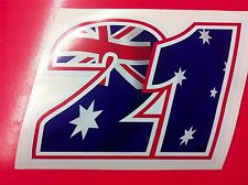 Adesivo Stickers TROY BAYLISS 21 old Replica Australia Flag