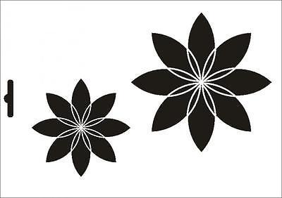 Wandschablone Maler T-shirt Schablone W-486 Blumen ~ Umr Design Produkte HeißEr Verkauf