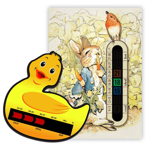 Peter rabbit nursery chambre thermomètre /& canard de bain thermomètre pack-moving ligne