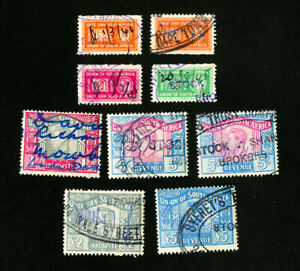 South-Africa-Stamps-Lot-of-7-revenues-all-different-early