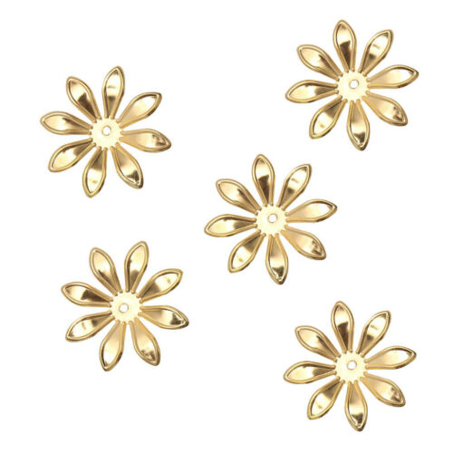 100 Pieces Filigree Flowers Slice Pendant Jewelry Findings Making Accessories