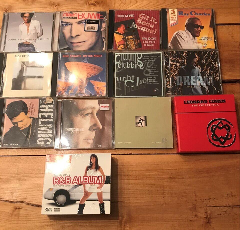 CD'er, pop/rock/m.v. kendte kunstnere