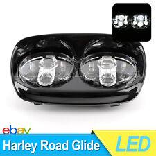 1Set Dual LED Headlight Assembly for Harley-Davidson Road Glide Hi/Lo Beam 90W