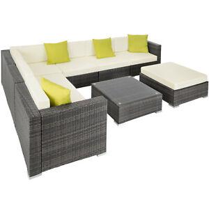 Sofa Grau Poly Alu Möbel Rattanmöbel Lounge Zu Rattan Sitzgruppe Set Tisch Details Garten qA354RjL