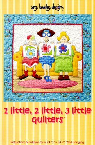 1 LITTLE, 2 LITTLE, 3 LITTLE QUILTER'S PRECUT KIT, By Amy Bradley Designs NEW