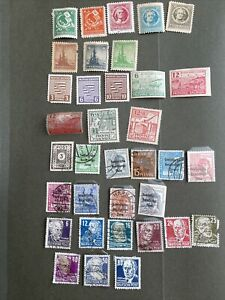 Germany  Thuringen,Saxony Russian Soviet Occupation Zone 1945-1949,35 Stamps