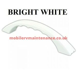 *RV SET OF TWO GRAB HANDLES WITH SCREW COVER WHITE