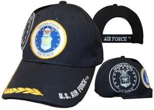 U.S. Air Force USAF Emblem Shadow Feathers Embroidered Cap Hat 603BB