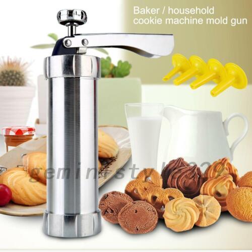 Cookie Press Gun for DIY Biscuit Maker with 20 Steel Cookie Discs and 4 Nozzle